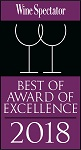 Wine Spectator, Best of award of exellence 2018